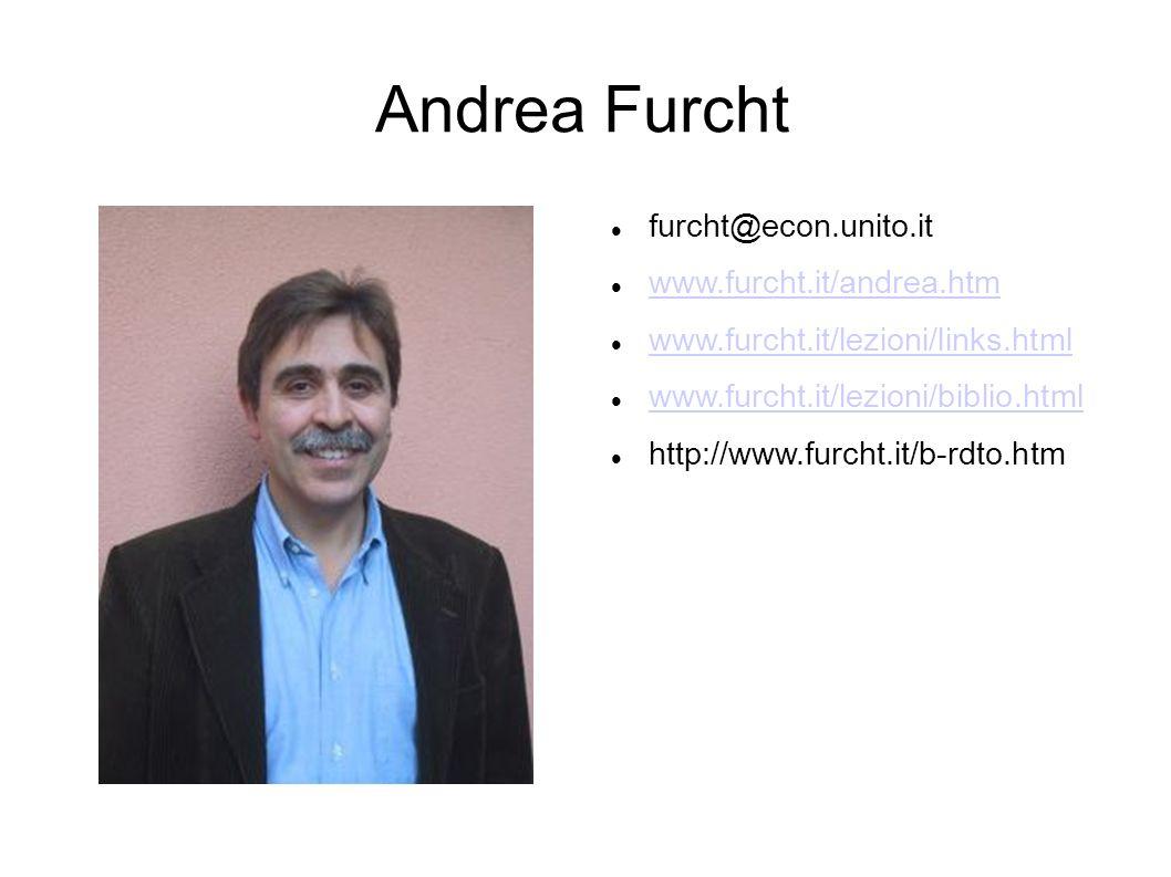 Andrea Furcht furcht@econ.unito.it www.furcht.it/andrea.htm