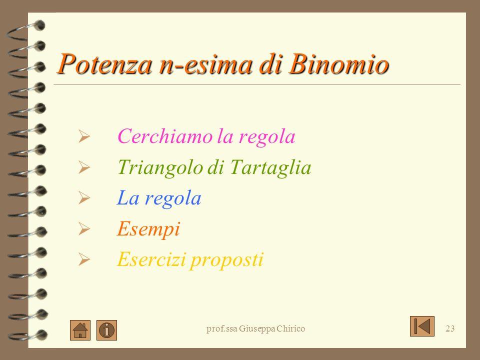 Potenza n-esima di Binomio