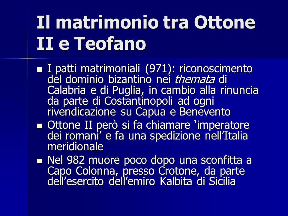 Il matrimonio tra Ottone II e Teofano