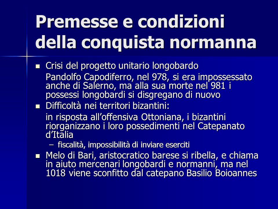 Premesse e condizioni della conquista normanna