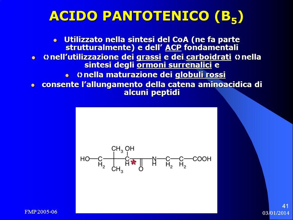 ACIDO PANTOTENICO (B5) *