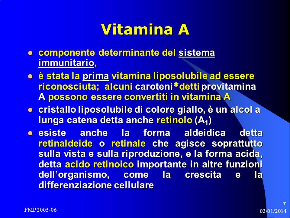 Vitamina A componente determinante del sistema immunitario,