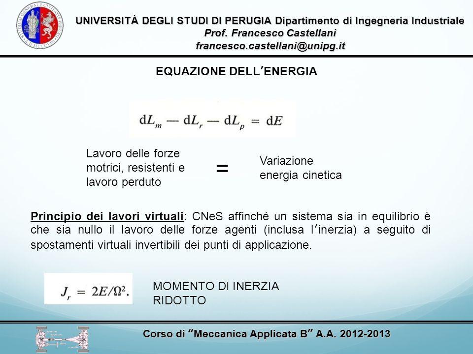 = EQUAZIONE DELL'ENERGIA