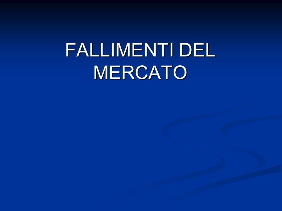FALLIMENTI DEL MERCATO