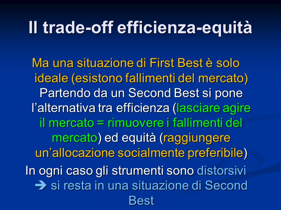 Il trade-off efficienza-equità