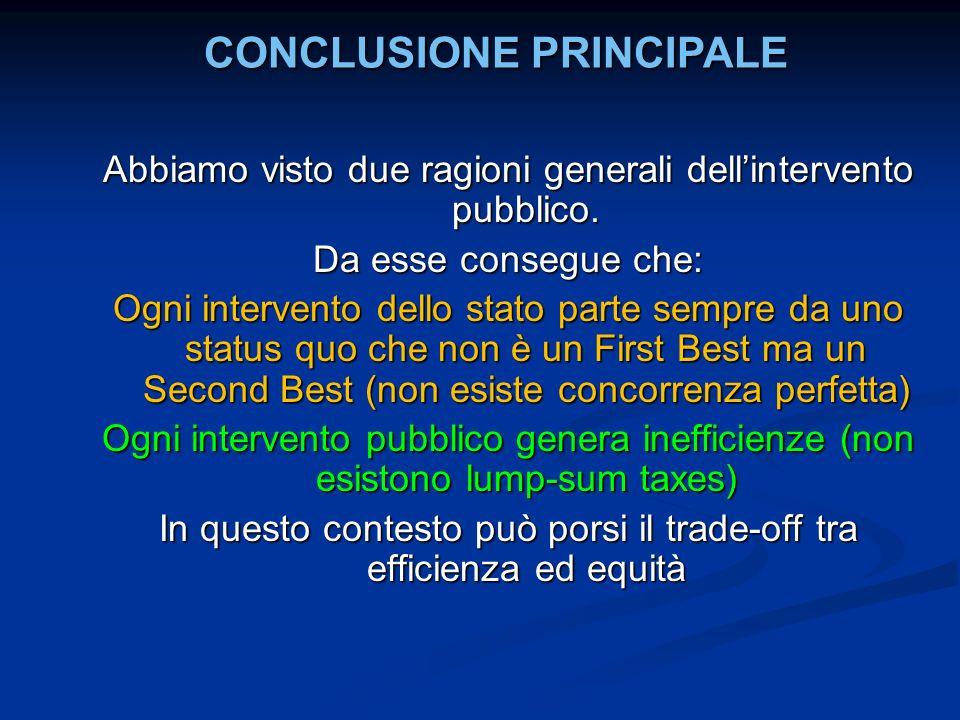 CONCLUSIONE PRINCIPALE