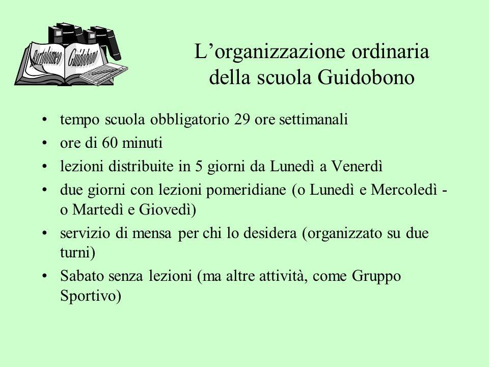 L'organizzazione ordinaria della scuola Guidobono
