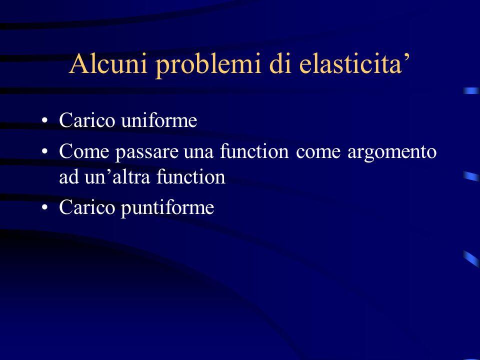 Alcuni problemi di elasticita'