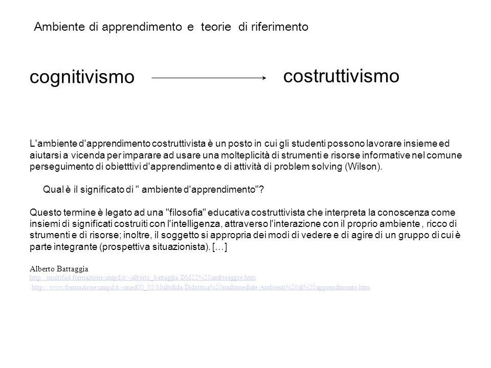 cognitivismo costruttivismo