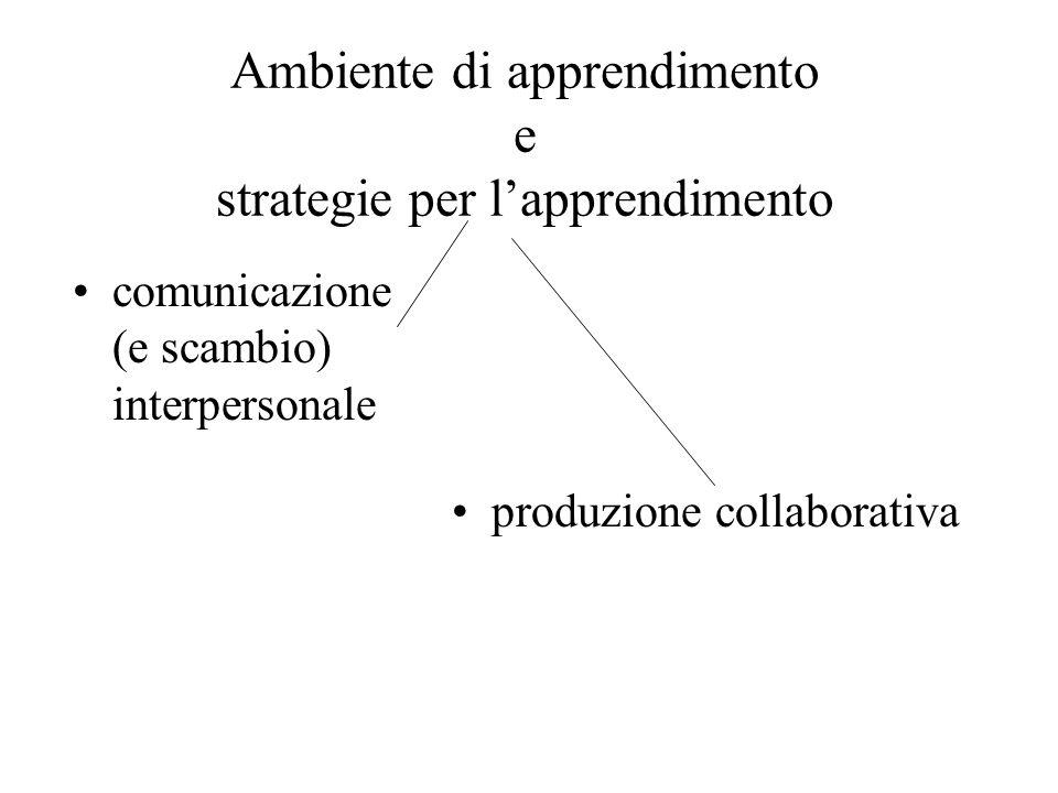 Ambiente di apprendimento e strategie per l'apprendimento