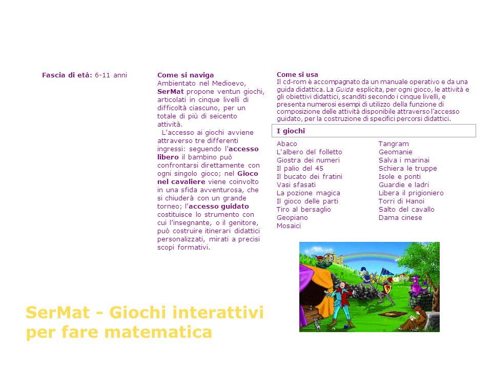 SerMat - Giochi interattivi per fare matematica