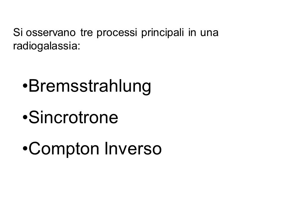 Bremsstrahlung Sincrotrone Compton Inverso