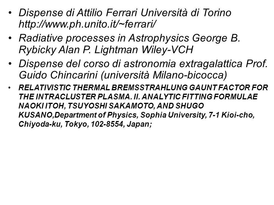 Dispense di Attilio Ferrari Università di Torino http://www. ph. unito