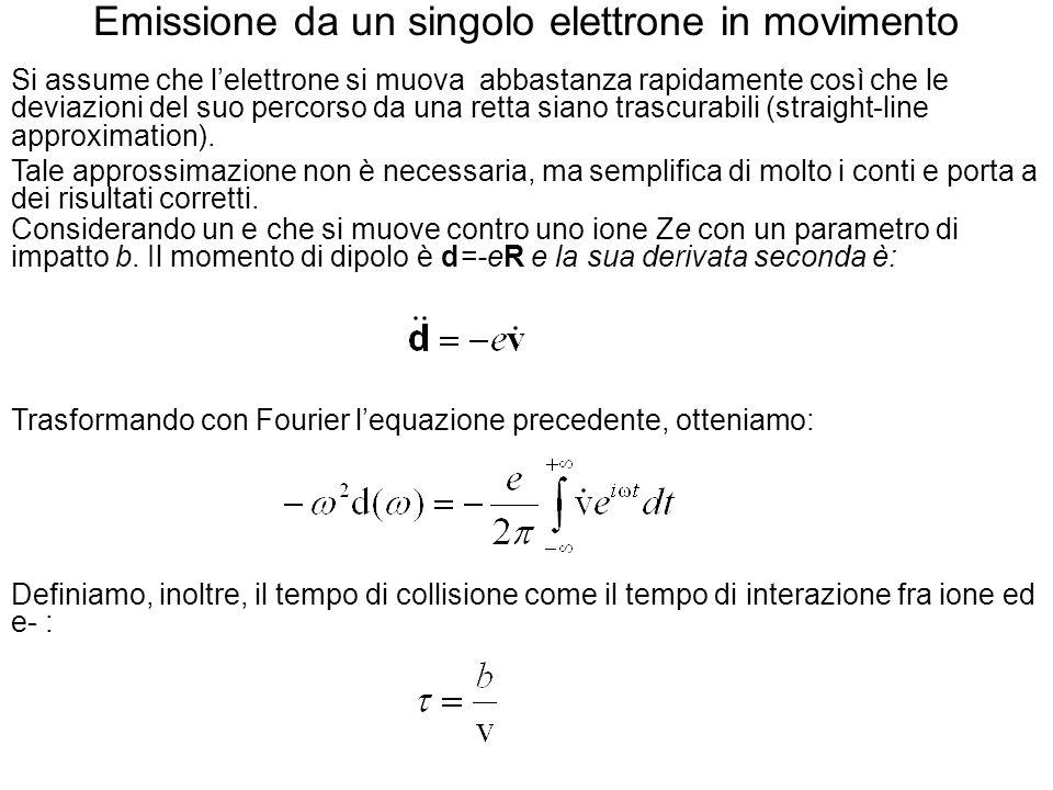 Emissione da un singolo elettrone in movimento