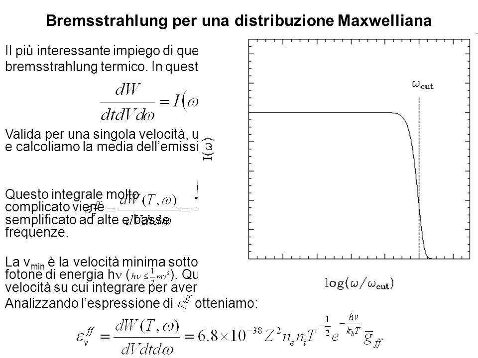 Bremsstrahlung per una distribuzione Maxwelliana
