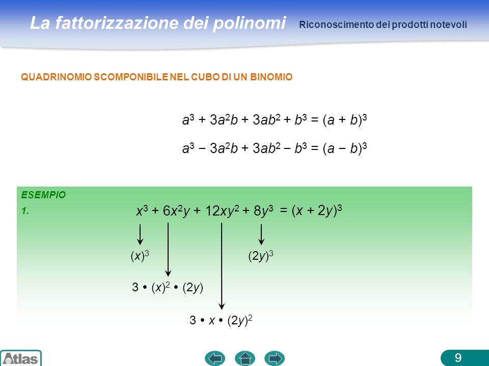a3 + 3a2b + 3ab2 + b3 = (a + b)3 a3 − 3a2b + 3ab2 − b3 = (a − b)3