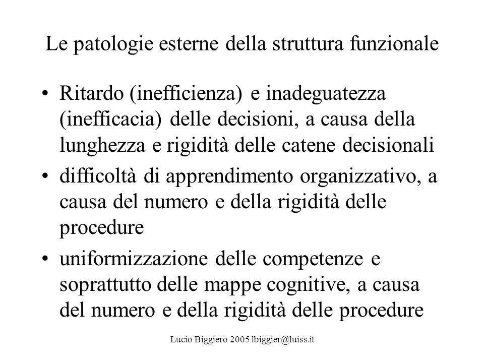 Le patologie esterne della struttura funzionale