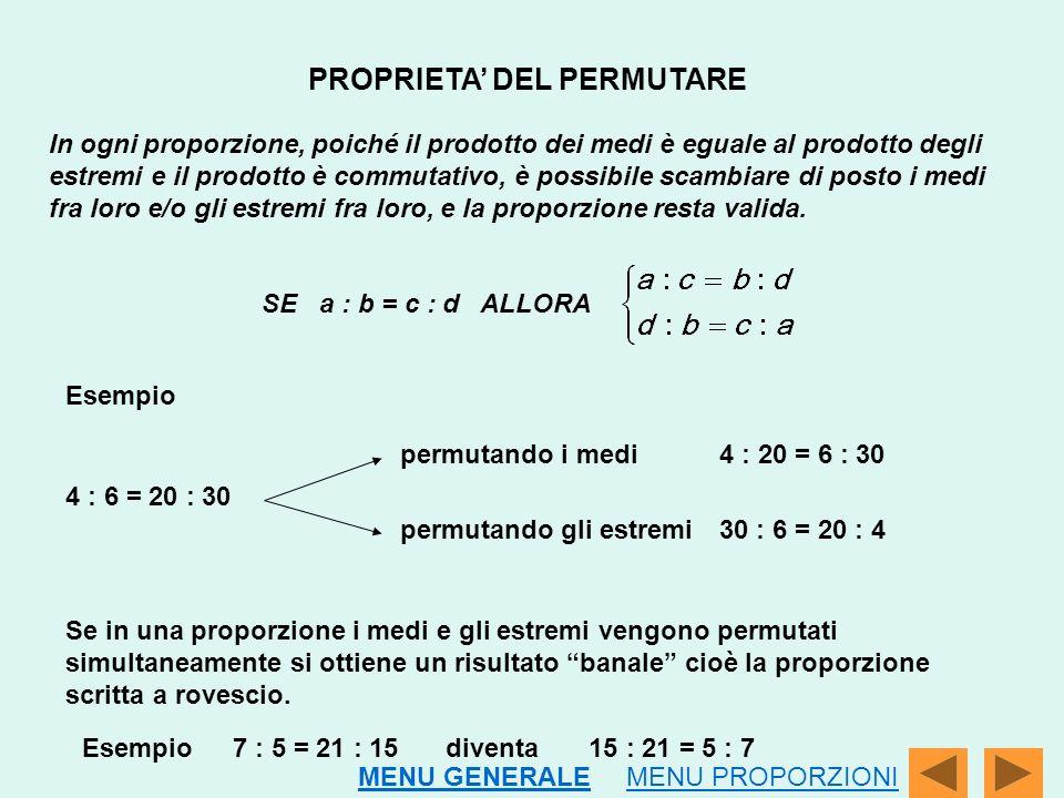 PROPRIETA' DEL PERMUTARE