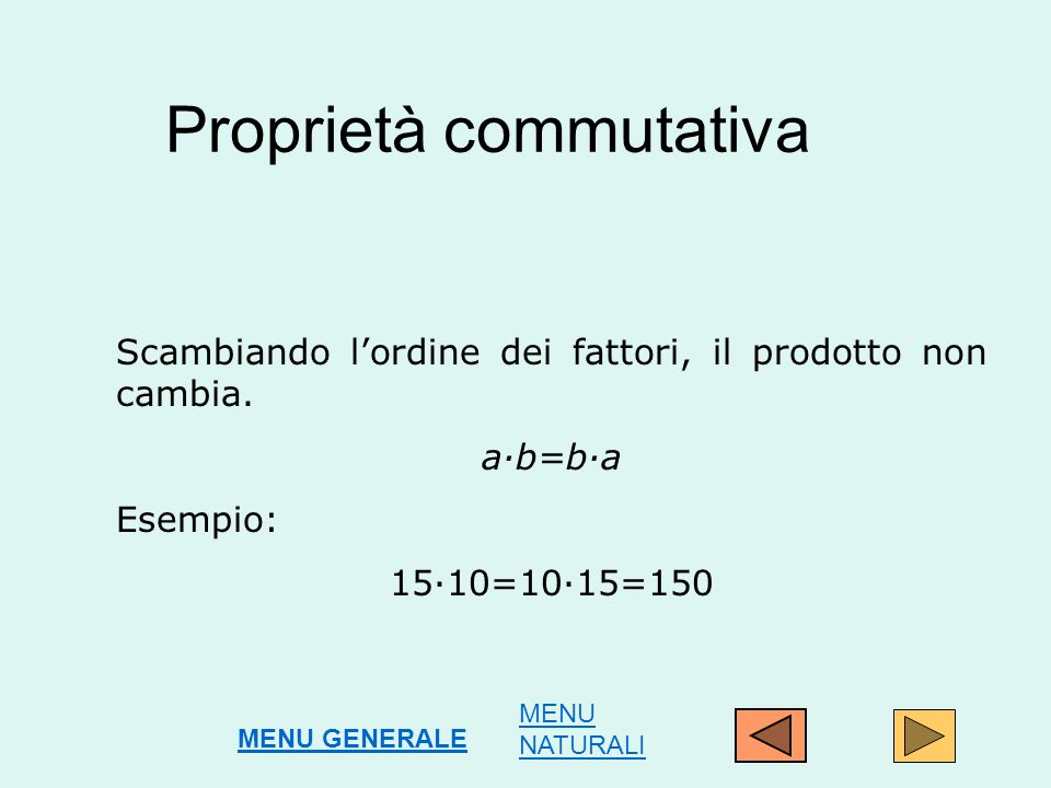 Proprietà commutativa