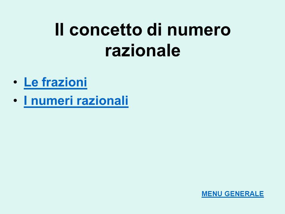 Il concetto di numero razionale