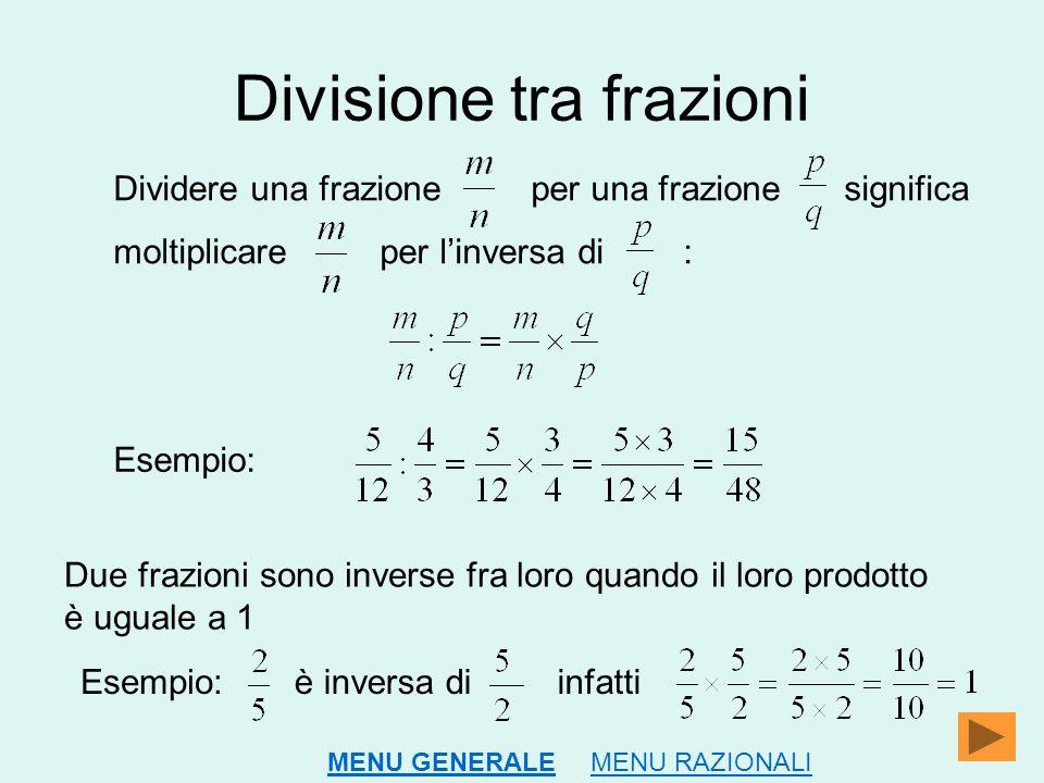Divisione tra frazioni