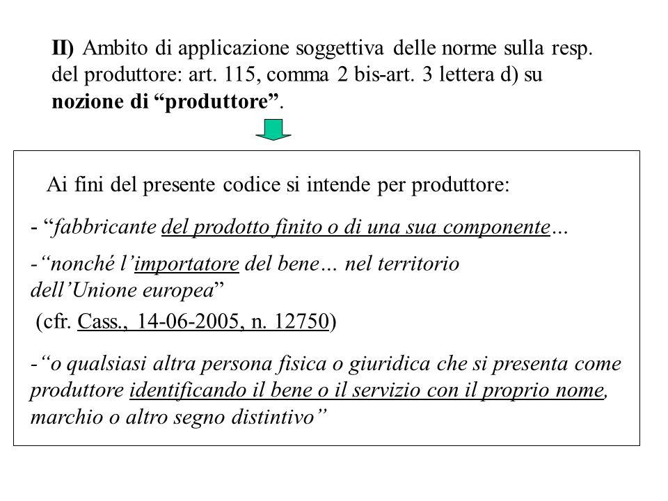 II) Ambito di applicazione soggettiva delle norme sulla resp.