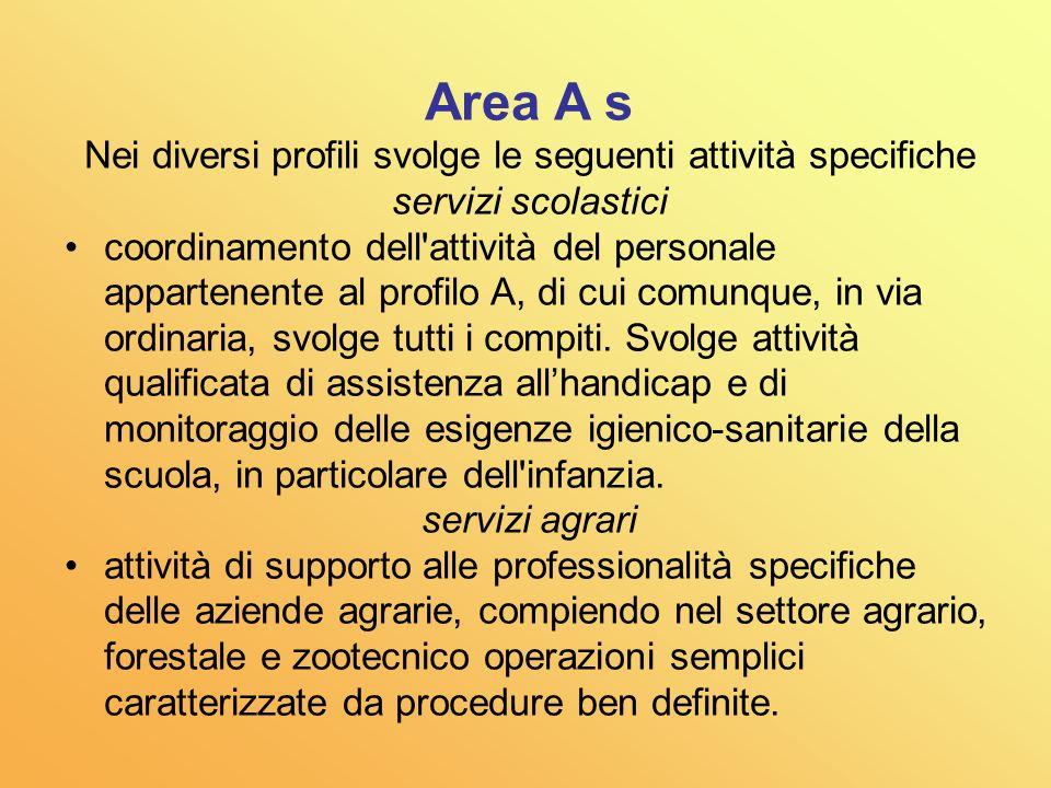 Nei diversi profili svolge le seguenti attività specifiche