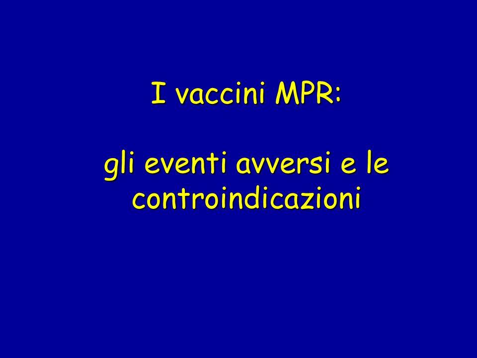 I vaccini MPR: gli eventi avversi e le controindicazioni