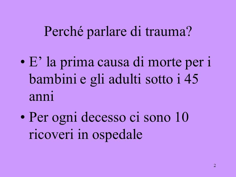 Perché parlare di trauma