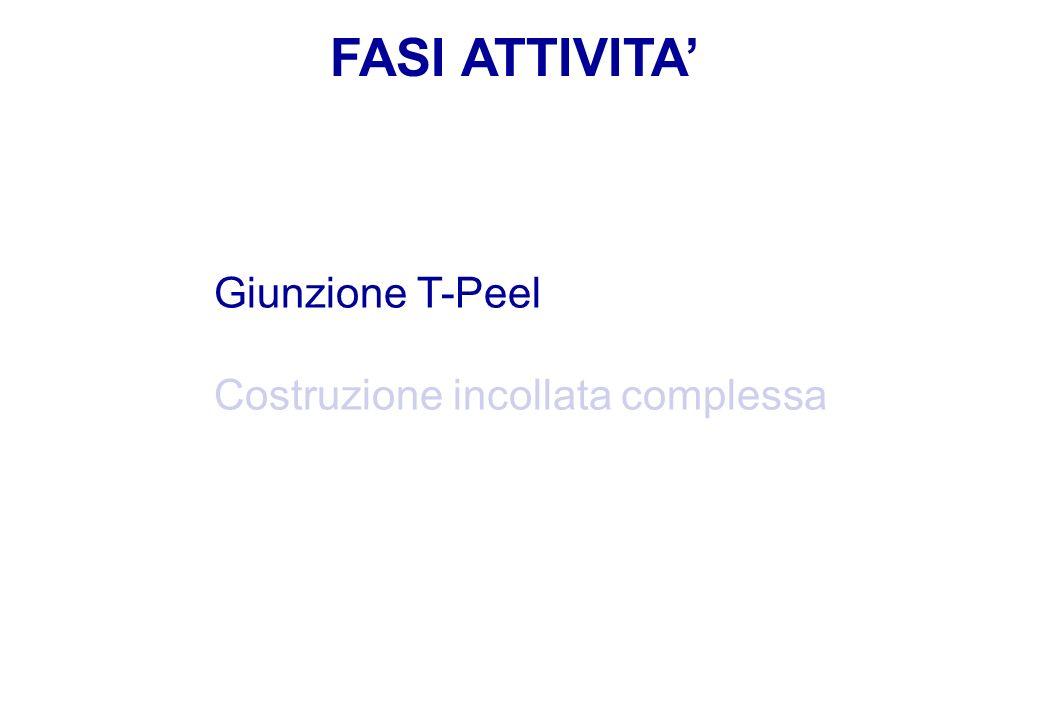 FASI ATTIVITA' Giunzione T-Peel Costruzione incollata complessa