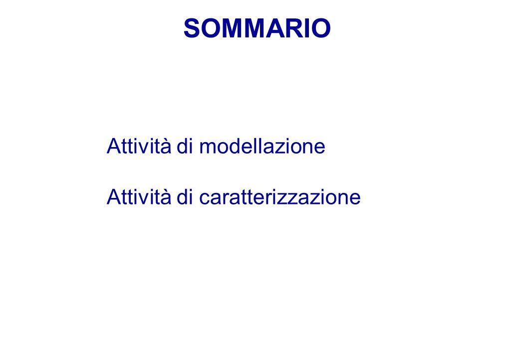 SOMMARIO Attività di modellazione Attività di caratterizzazione