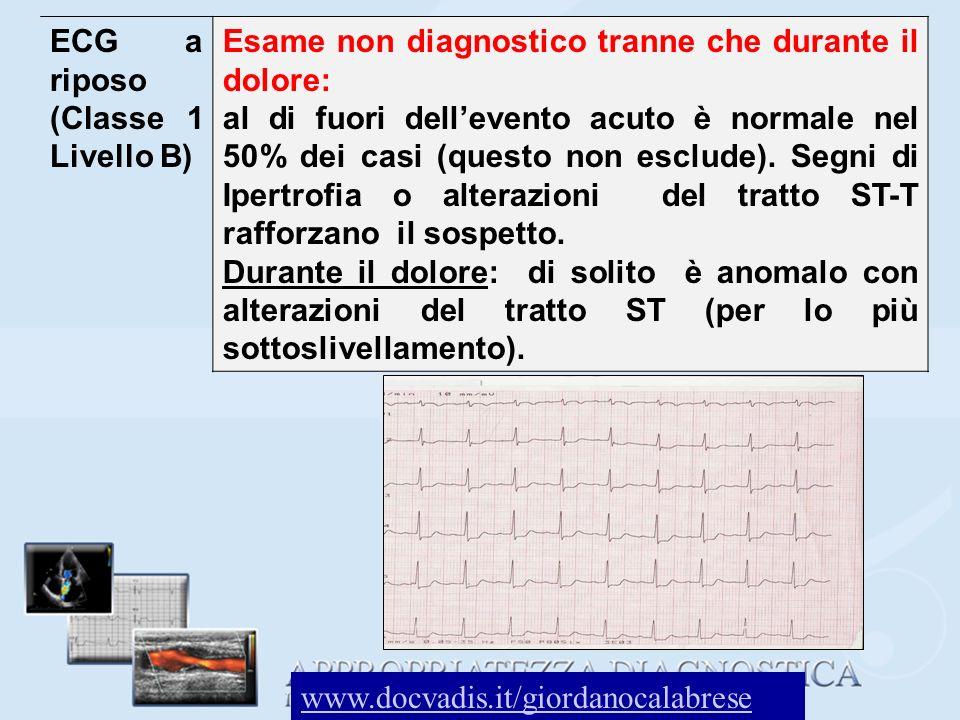 ECG a riposo (Classe 1 Livello B)