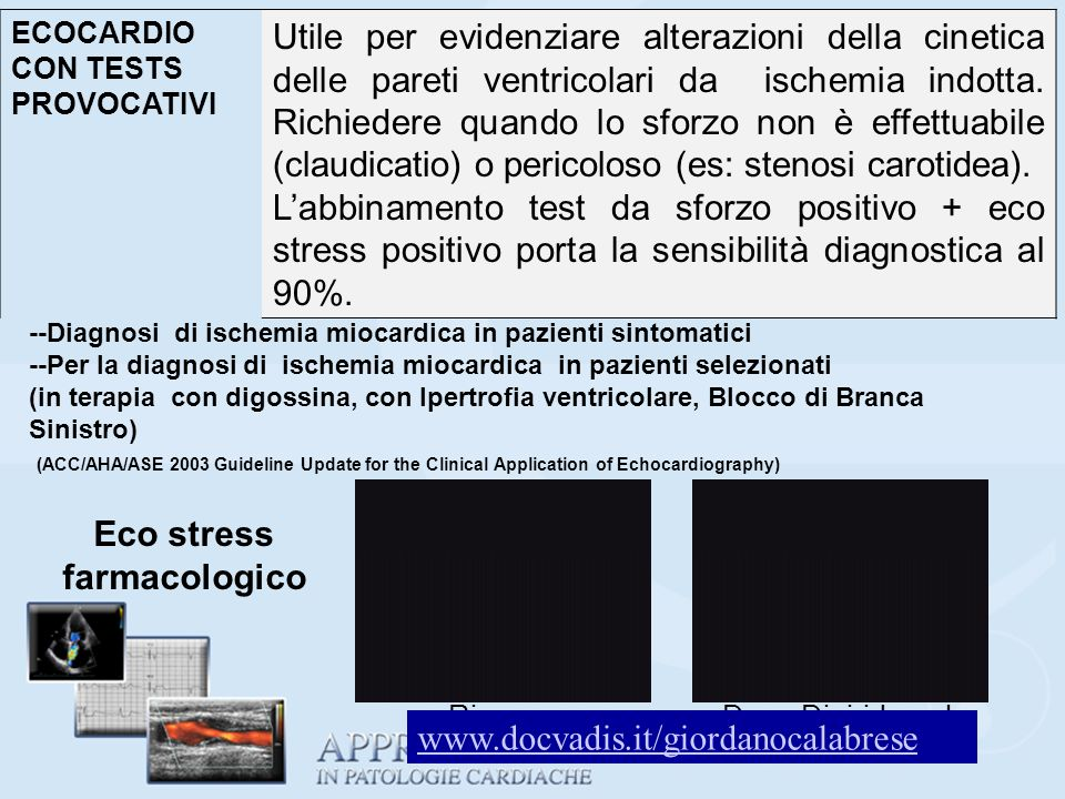 Eco stress farmacologico