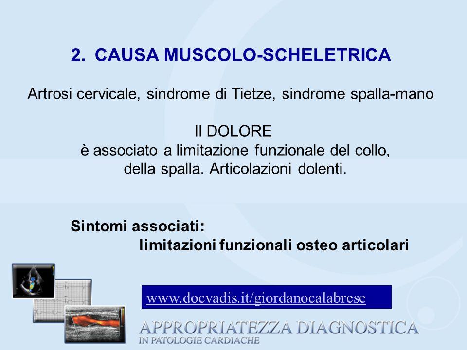 2. CAUSA MUSCOLO-SCHELETRICA
