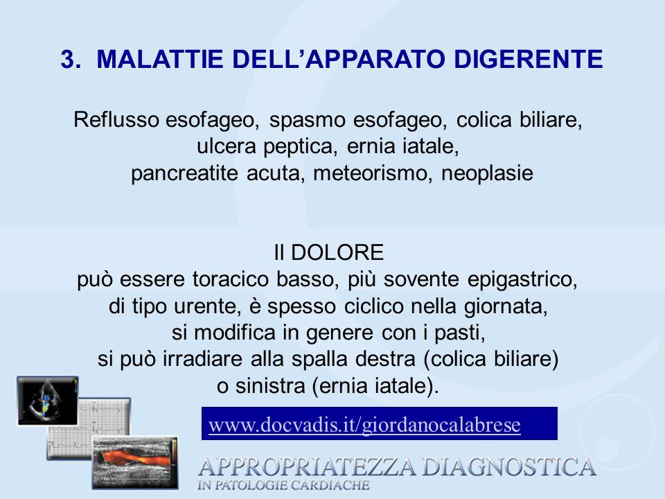 3. MALATTIE DELL'APPARATO DIGERENTE