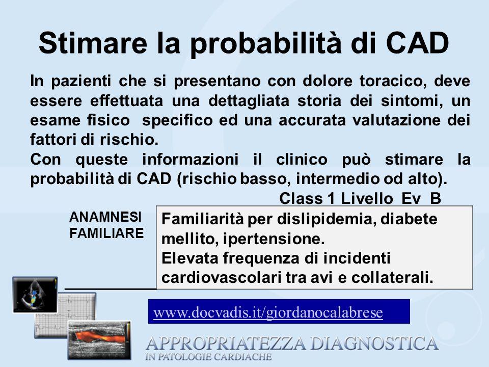 Stimare la probabilità di CAD