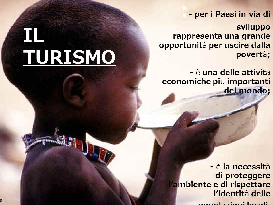 :- per i Paesi in via di sviluppo IL TURISMO