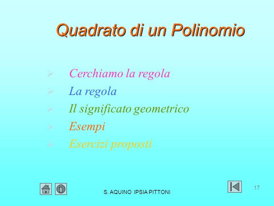 Quadrato di un Polinomio