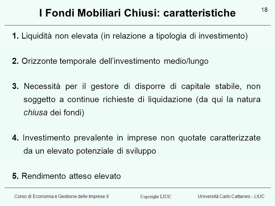 I Fondi Mobiliari Chiusi: caratteristiche