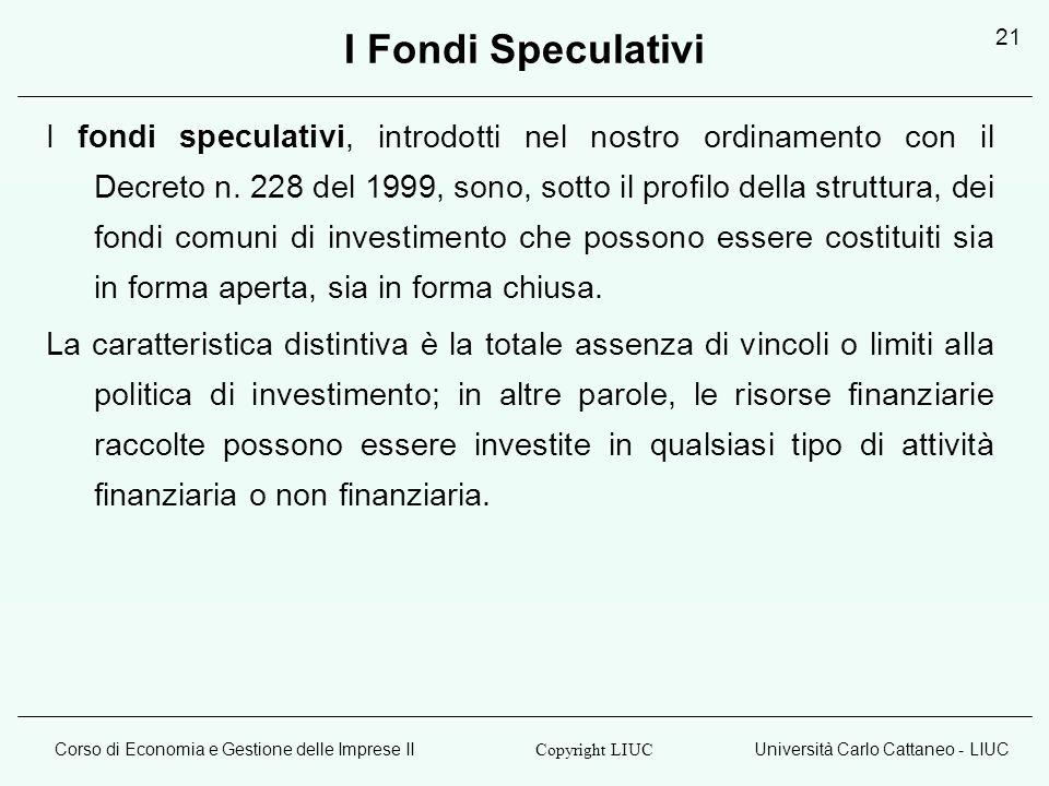 I Fondi Speculativi