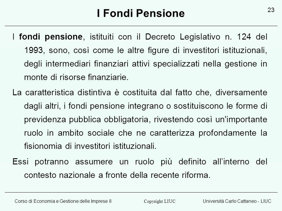 I Fondi Pensione