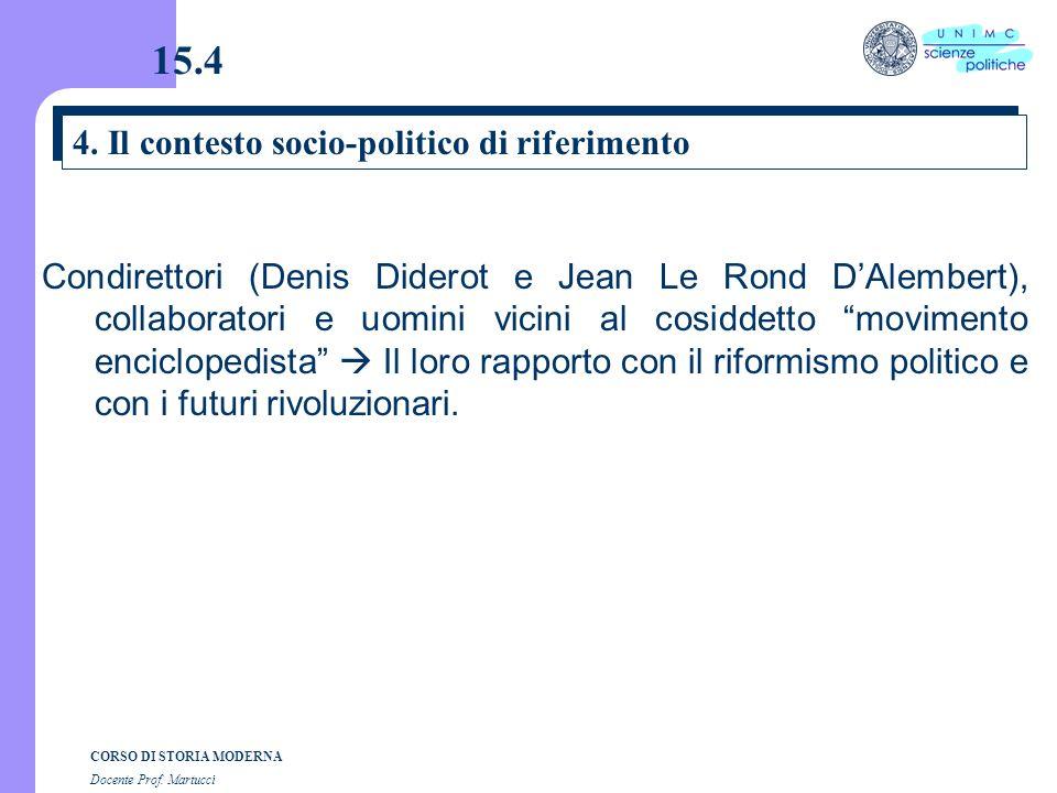 15.4 4. Il contesto socio-politico di riferimento
