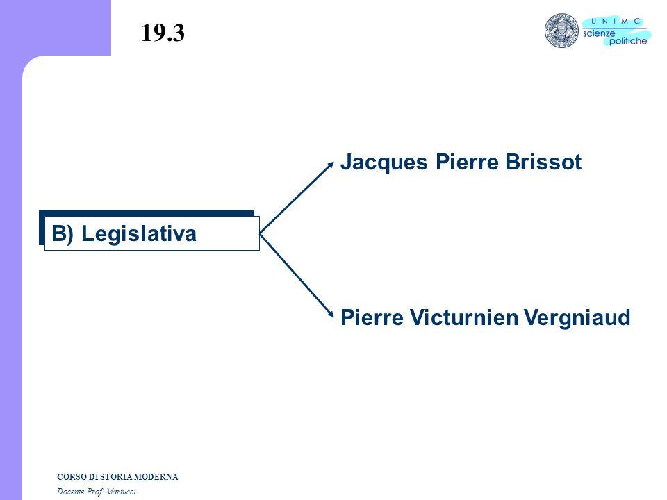 19.3 Jacques Pierre Brissot B) Legislativa Pierre Victurnien Vergniaud