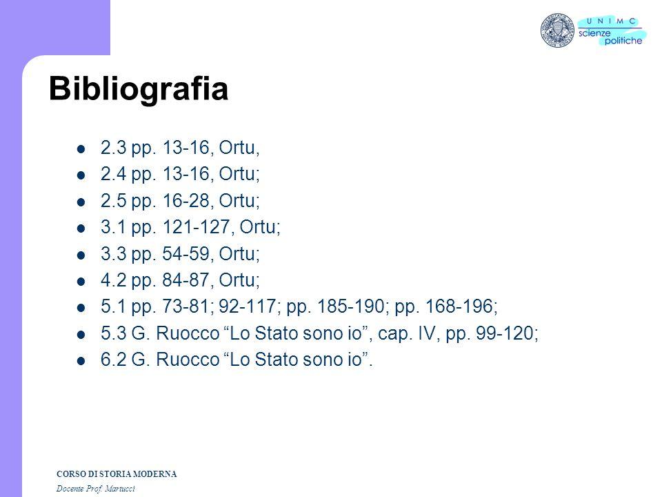 Bibliografia 2.3 pp. 13-16, Ortu, 2.4 pp. 13-16, Ortu;