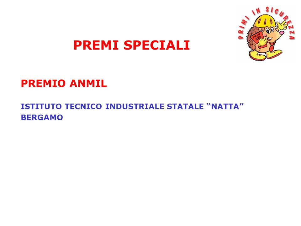 PREMIO ANMIL ISTITUTO TECNICO INDUSTRIALE STATALE NATTA BERGAMO