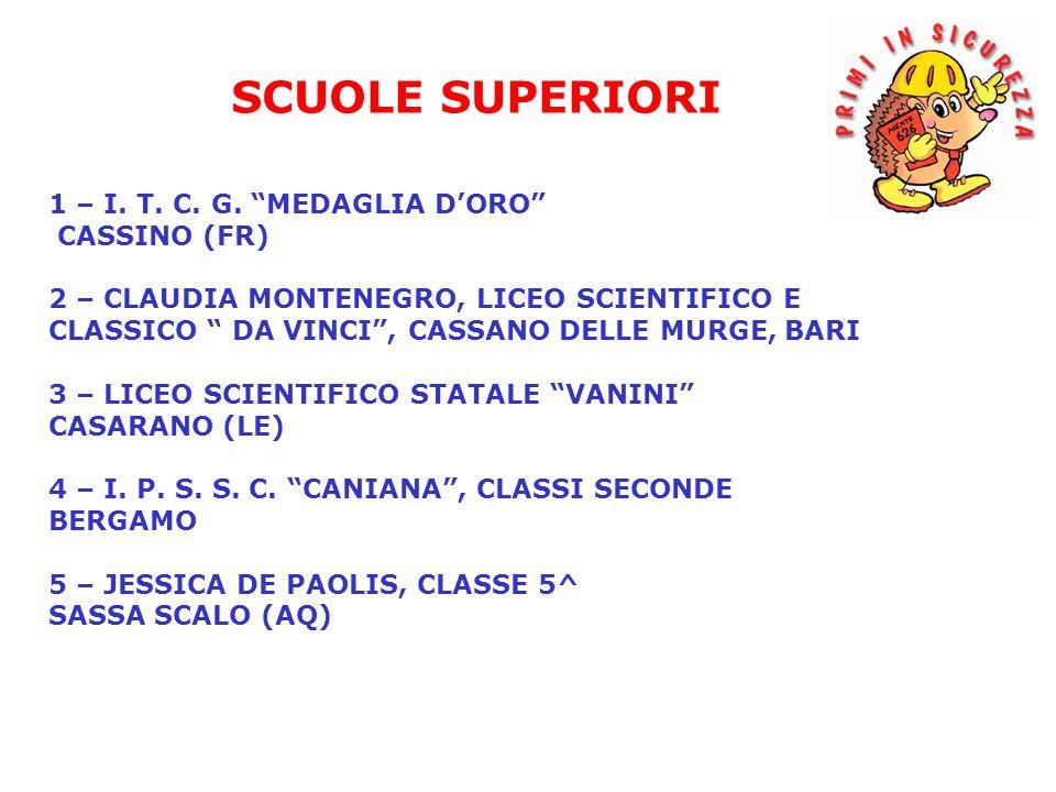 SCUOLE SUPERIORI 1 – I. T. C. G. MEDAGLIA D'ORO CASSINO (FR)