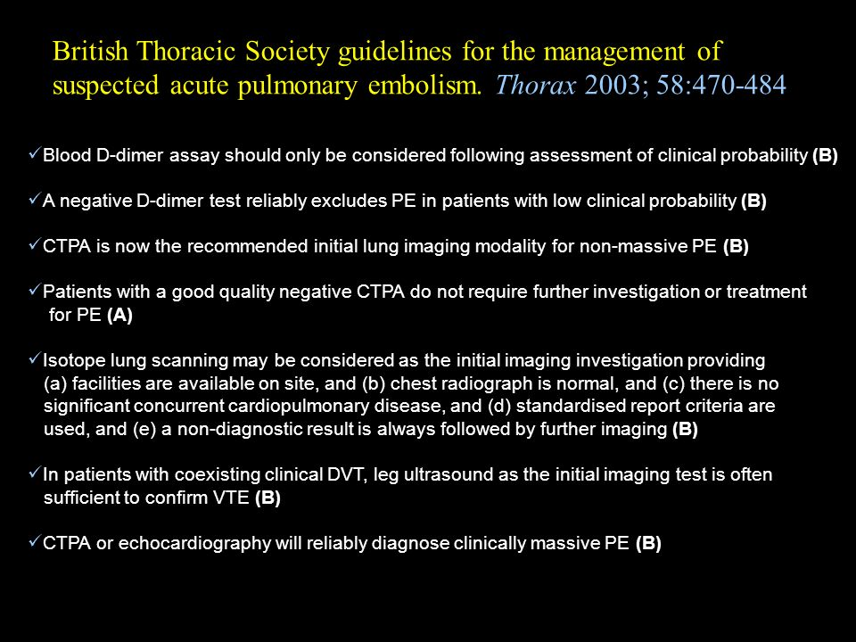 British Thoracic Society guidelines for the management of