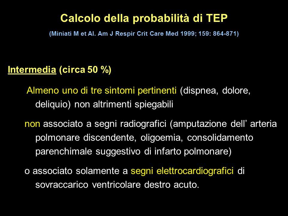 Calcolo della probabilità di TEP