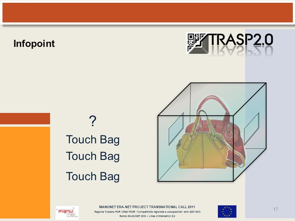 Touch Bag Infopoint MANUNET ERA-NET PROJECT TRANSNATIONAL CALL 2011