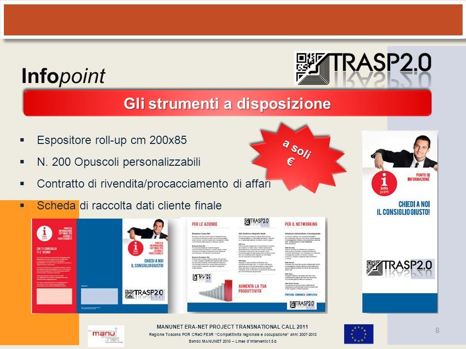 Infopoint Gli strumenti a disposizione Espositore roll-up cm 200x85